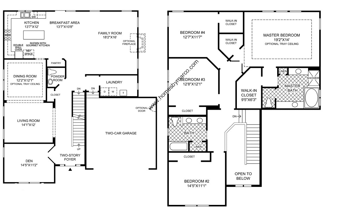 Berkshire model in the bowes creek country club for House layouts 4 bedroom