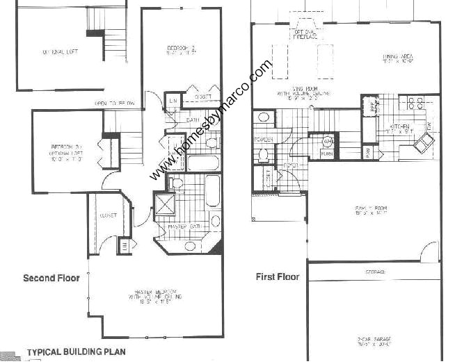 Homes By Marco Floor Plans: Westin Model In The Maple Hill Subdivision In Warrenville